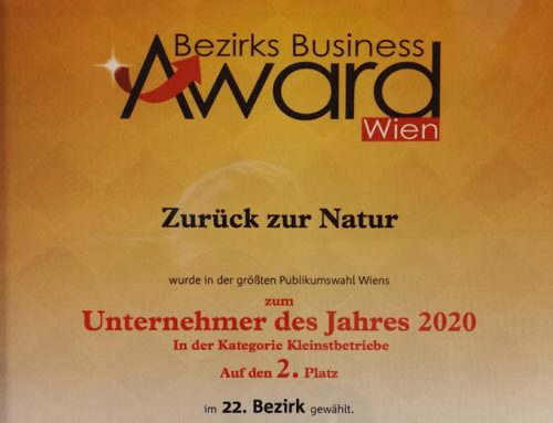 """Business Award 2020 für unseren Mitgliedsbetrieb """"Zurück zur Natur""""!"""